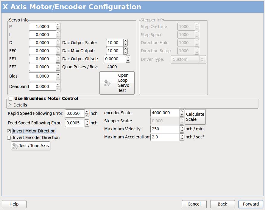 Mesa Configuration Wizard