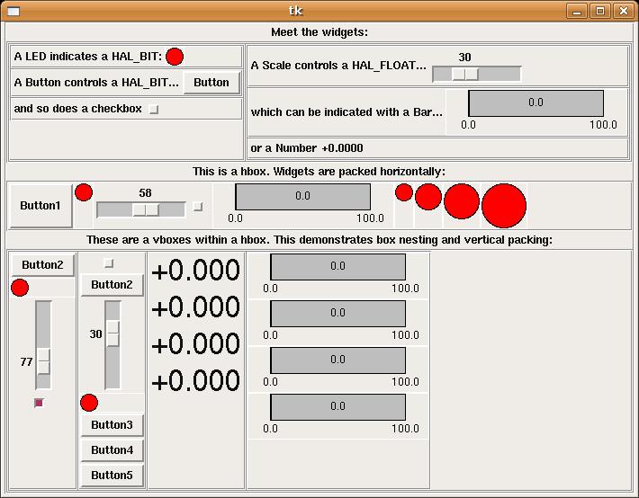Python Virtual Control Panel