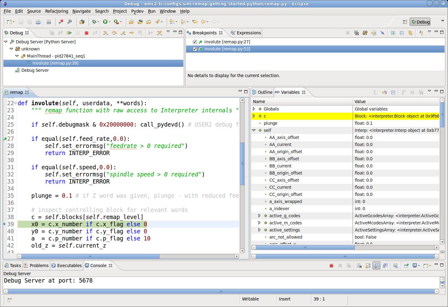 Remap Extending G code
